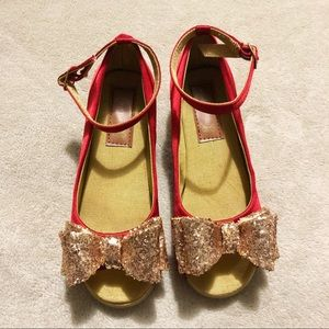 "Joyfolie red satin ""heels"""